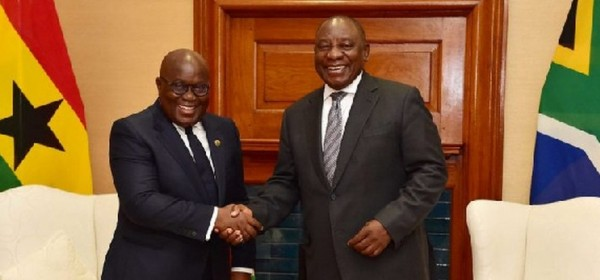 Ghana-Afrique du Sud: Grands points de la visite de Ramaphosa à Accra, cap sur le Togo