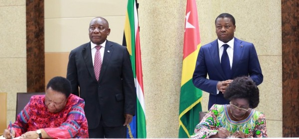 Togo-Afrique du Sud: Après visite de Ramaphosa, potentiels du Togo et projet d'un business forum en RSA