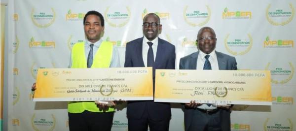 Côte d'Ivoire:  Prix de l'innovation des secteurs énergie et hydrocarbures, les deux lauréats ont reçu chacun 10 millions de FCFA