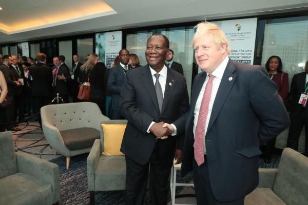 Côte d'Ivoire-UK: Ouattara échange avec Johnson, transformation locale des matières première...
