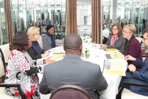 Côte d'Ivoire: En marge du sommet Royaume-Uni-Afrique, la Première Dame Dominique Ouattara p...
