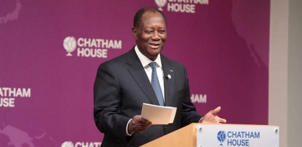 Côte d'Ivoire :  Depuis Londres, Ouattara assure : «la paix, la stabilité, la modernisation du pays et la cohésion sociale, sont désormais irréversibles»