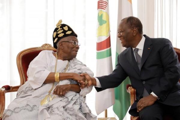 Côte d'Ivoire: Alassane Ouattara reçoit Nanan Boa Kouassi III, Roi de l'indénié au Palais pr...