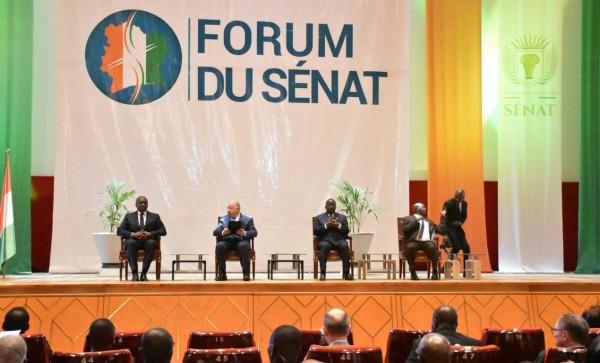 Côte d'Ivoire : Yamoussoukro, le premier Forum du Sénat ivoirien avec les collectivités territoriales a démarré en présence du Président du Sénat français