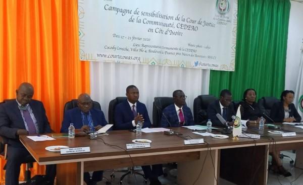 Côte d'Ivoire : La Cour de justice de la CEDEAO, sensible sur les recours qu'elles offre aux citoyens de la Communauté en particulier dans le domaine des droits de l'homme