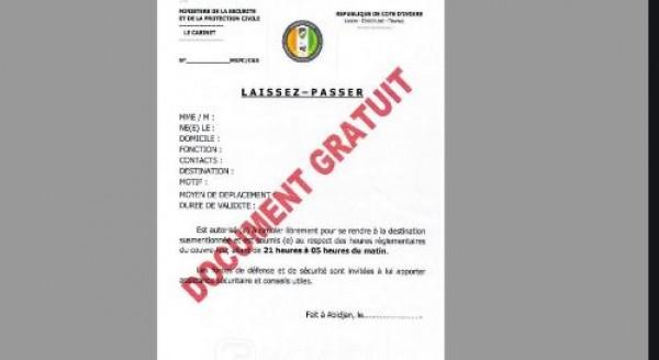 Côte d'Ivoire : Plus de « 300 demandes » d'autorisation de sortir d'Abidjan formulées en un jour, pour la plupart les funérailles comme motif