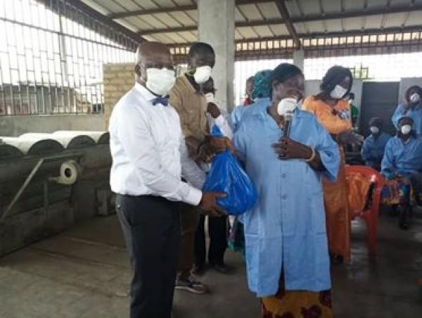Côte d'Ivoire : Lutte contre la propagation du COVID-19, Moussa Dosso engage la bataille au port de pêche, au centre vétérinaire antirabique
