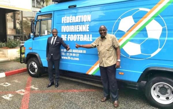 Côte d'Ivoire  Le car-régie de la Fédération Ivoirienne de Football est enfin arrivé