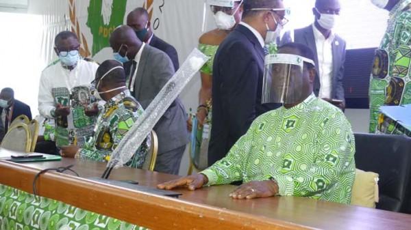 Côte d'Ivoire : Session extraordinaire du bureau politique du PDCI, communiqué final et mot...