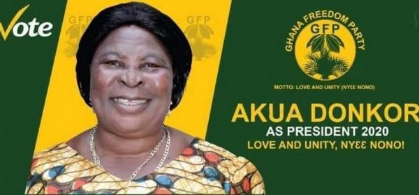 Ghana :  Présidentielle 2020, la candidate Akua Donkor désigne un journaliste comme son colistier