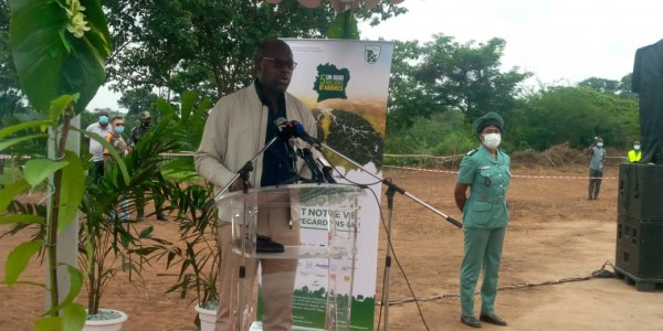 Côte d'Ivoire : Couvert forestier, depuis Yamoussoukro, Donwahi invite la population à s'approprier l'opération «1 jour 5 millions d'arbres»