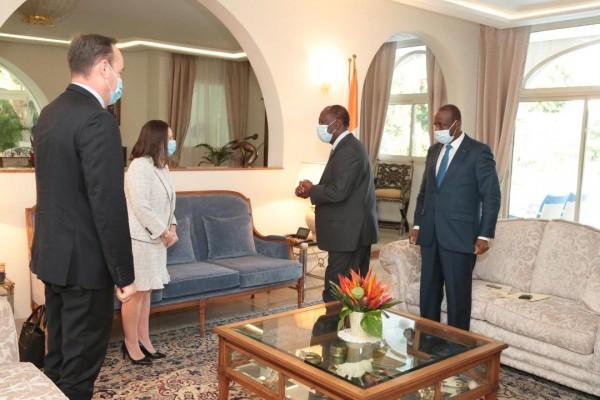 Côte d'Ivoire : Alassane Ouattara échange avec l'Ambassadeur deu Canada