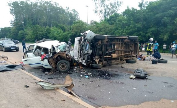 Côte d'Ivoire : Début de semaine dramatique, 05 morts dans un accident de circulation
