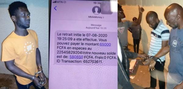 Côte d'Ivoire : Bouaké, tentant de voler dans un point mobile money, deux faussaires et un arnaqueur appréhendés par le gérant