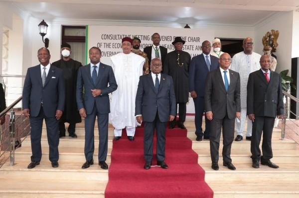 Côte d'Ivoire : Réunion consultative entre des Chefs d'Etat et de Gouvernement de la CEDEAO...