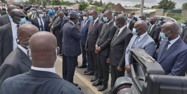 Côte d'Ivoire : Alassane Ouattara après un hommage à Diby à son arrivée à Bouaflé : « Je viens aussi voir et écouter les populations »