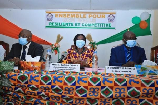 Côte d'Ivoire : Depuis la Marahoué, Kandia Camara exhorte les chefs d'établissements à ne pas introduire la politique dans l'école à la veille de l'élection présidentielle