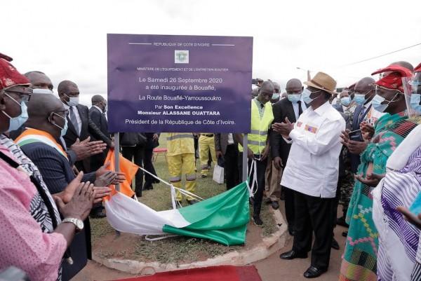 Côte d'Ivoire : inauguration à Bouaflé de la Route réhabilitée Yamoussoukro - Bouaflé
