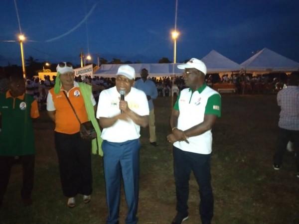 Côte d'Ivoire : En campagne pour Ouattara à Boukébo, Jean Claude Kouassi invite la population Gblo-Blê à voter à 90%