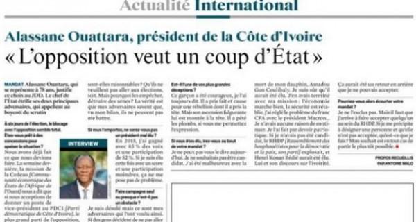 Côte d'Ivoire : A 4 jours du vote présidentiel, réaction des Gbago ou rien à une interview d...