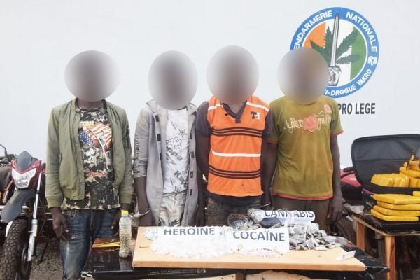 Côte d'Ivoire : À Yamoussoukro, 50 kg de drogue saisis dans deux valises à une gare routière, 12 personnes interpellées