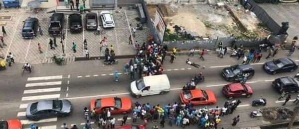 Côte d'Ivoire : Marcory, un bandit abattu devant un restaurant alors qu'il tentait de voler dans une voiture