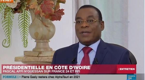 Côte d'Ivoire : À deux jours du vote, Affi martèle que l'opposition ne reconnaîtra pas Ouattara comme Président après le 31 octobre
