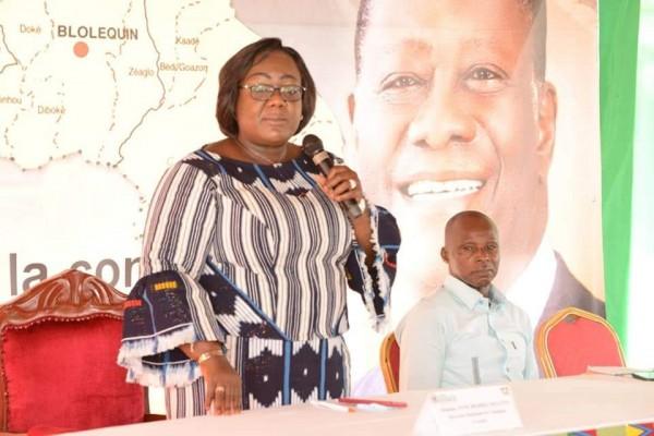 Côte d'Ivoire : Blolequin, Anne Ouloto au meeting de clôture de campagne martèle «le président Alassane Ouattara sera plébiscité dans le Cavally»