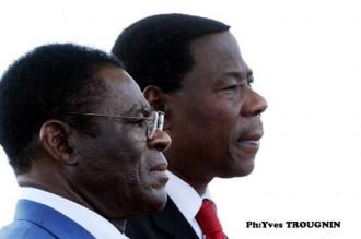 Le Président Téodoro Obiang Nguema Mbasago en séjour au Bénin