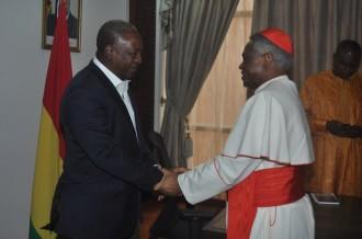 Ghana-Vatican:  Tête-à-tête John Mahama-Cardinal Appiah Turkson