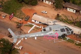 Centrafrique : Un hélicoptère Français touché par des tirs à Bangui