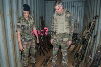 Centrafrique : Une cache dÂ'armes découverte dans un fief anti-balaka