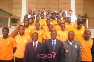 COTE D'IVOIRE: Alassane Ouattara reçoit les éléphants !