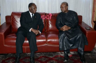COTE D'IVOIRE : A Accra, les exilés pros-Gbagbo au menu des discussions Ouattara-Mahama