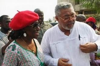 GHANA 2012:  Mr et Mme Rawlings prennent une pause politique