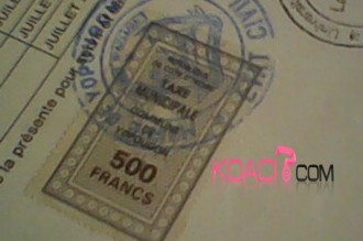 COTE D'IVOIRE: Les timbres municipaux passent à 1000 francs CFA ?