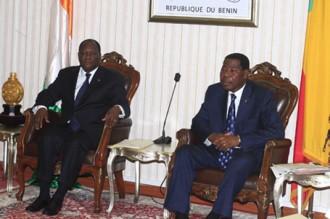 Alassane Ouattara reçu à Cotonou par un «vieil ami» appelé Boni Yayi!