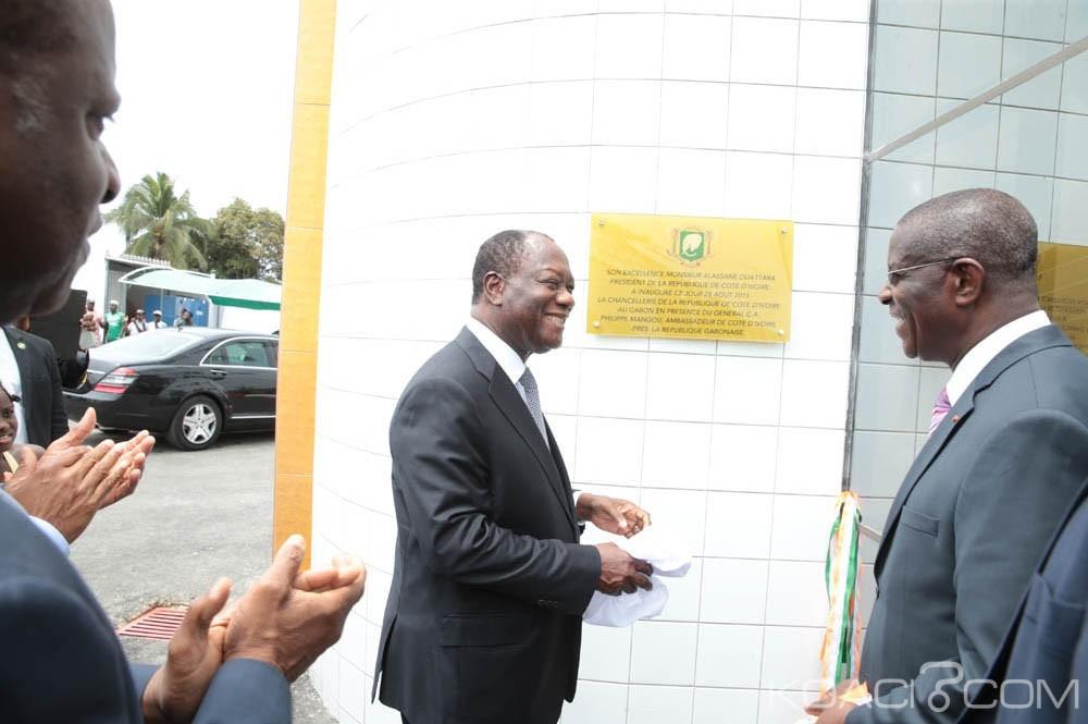 Côte d'Ivoire-Gabon: Ouattara inaugure la nouvelle ambassade à Libreville