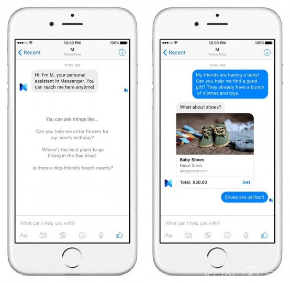 Monde: Face à Cortana, Siri et Google Now, Facebook  lance « M »