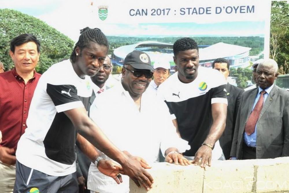 Gabon: Can 2017, Pose de la première pierre du stade d'Oyem