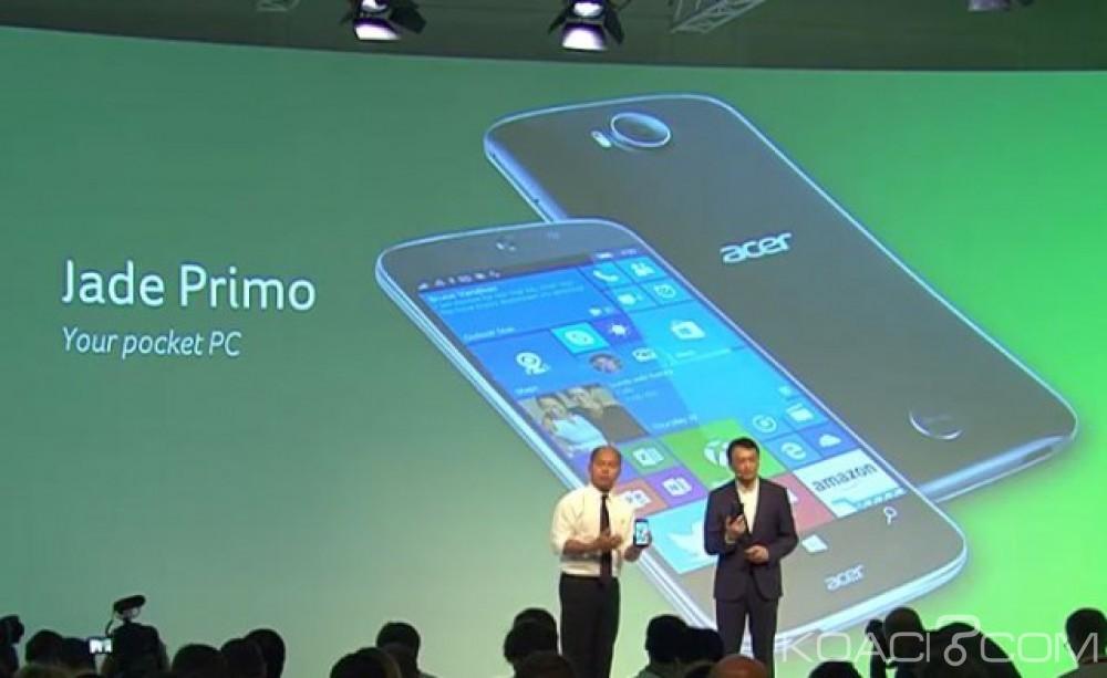 Monde: Le premier «PC Phone» sous Windows 10 est:  le Jade Primo
