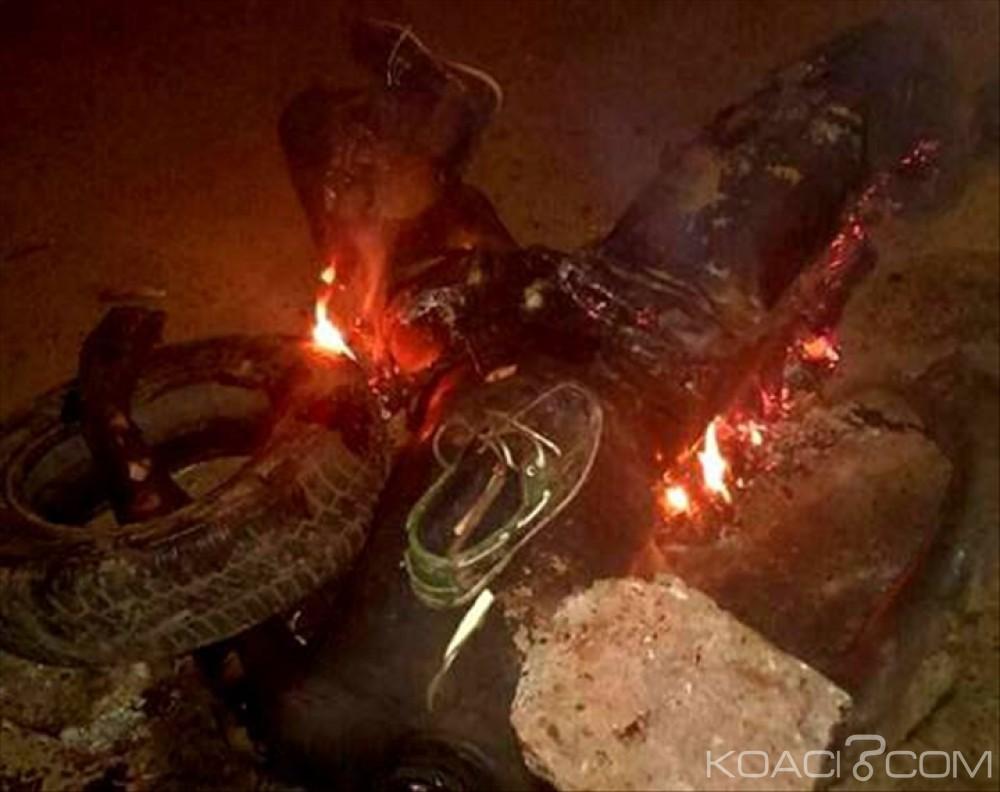 Mali : Brûlé vif  pour avoir tenté de voler  une moto