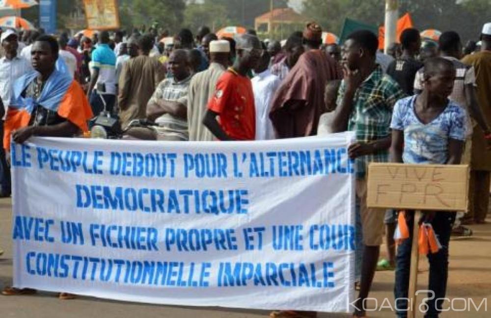 Niger  : Manifestation de l' opposition  à Niamey pour exiger des élections crédibles au Président