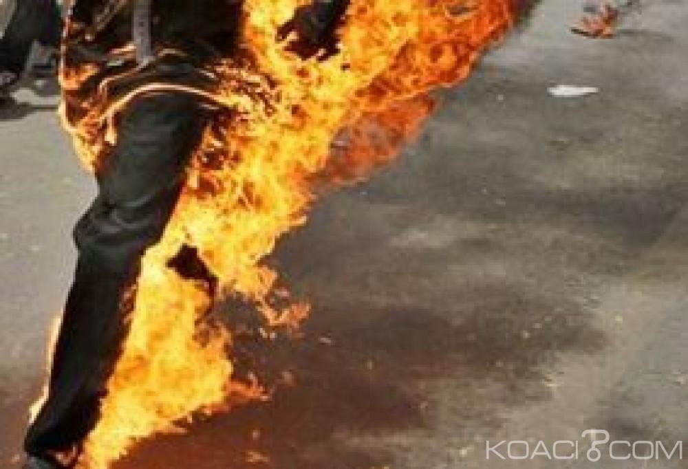 Gabon: Un jeune commerçant qui s'est immolé entre la vie et la mort à Libreville