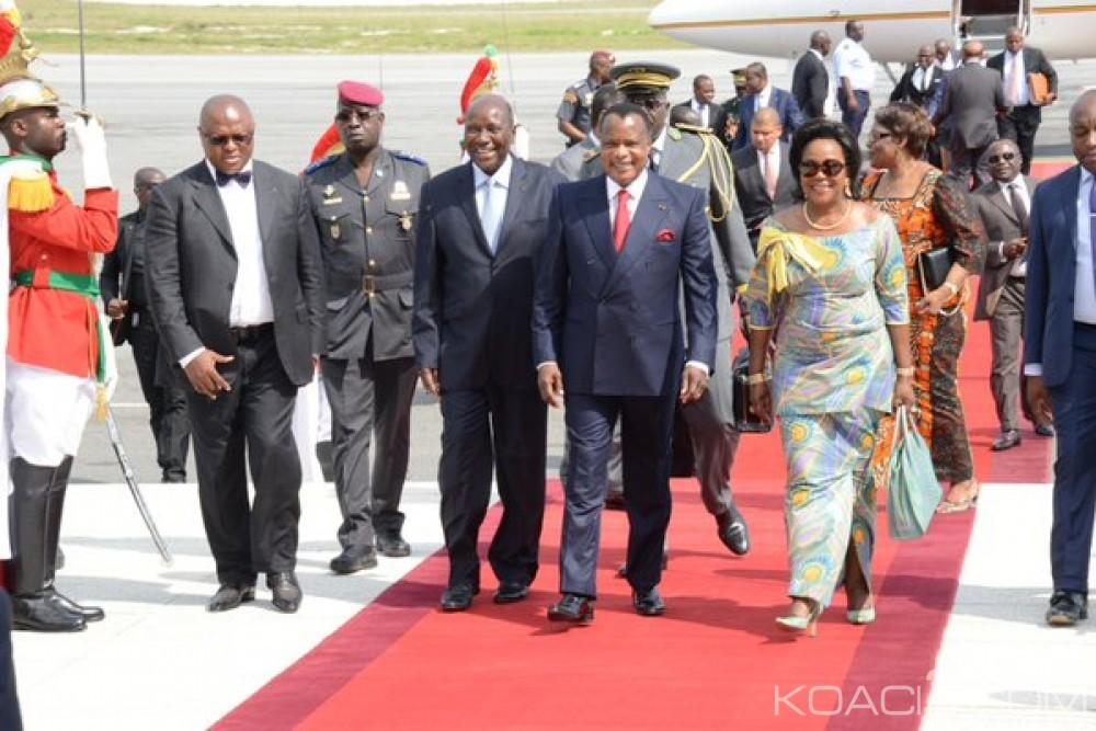 Congo: Visite surprise pour affaire de Sassou N'Guesso à Abidjan