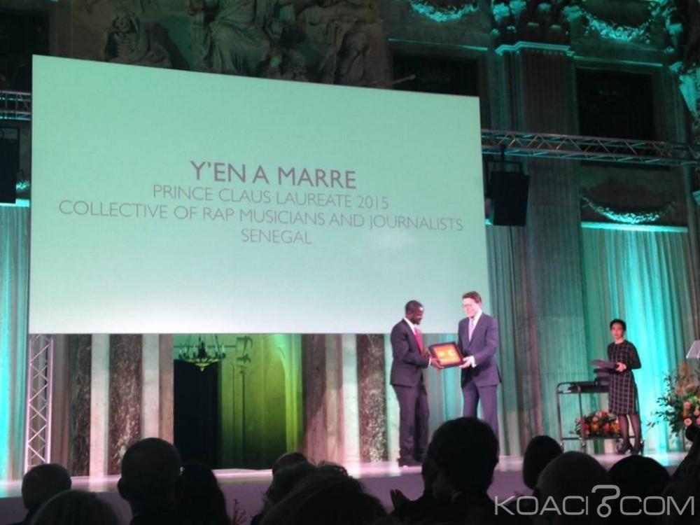 Sénégal: Le mouvement citoyen Y'en a marre a reçu le prix  «Prince Claus»  pour sa lutte pour «la préservation de la démocratie au Sénégal et en Afrique»