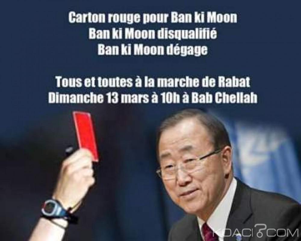 Koacinaute: Plusieurs millions de Marocains mettent à l'index Ban Ki Moon