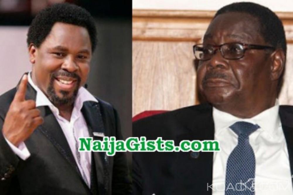 Malawi:  TB Joshua annonce la mort du Président Mutharika avant le 1er Avril