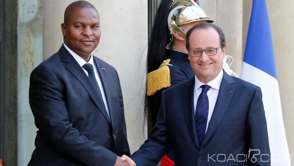 Centrafrique-France: Hollande reçoit Touadera à l'Elysée, salue l'élection et promet de soutenir la RCA