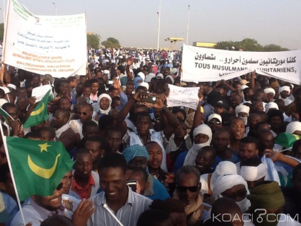 Mauritanie: Les descendants d'esclaves noirs ont marchés pour réclamer des droits civiques